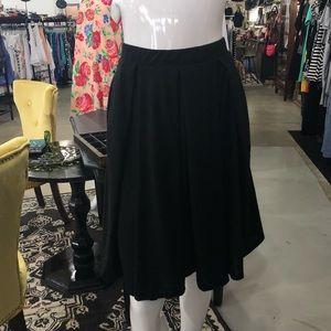Lularoe Solid Black Skater Skirt